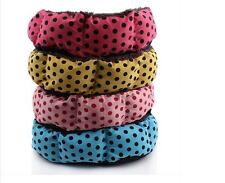 Newly 4 Styles Polka Dot Soft Plush Warm Pet Bed Dog Cat Bed Puppy Cushion House