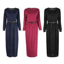 Fashion Lady Women Party Cocktail Long Sleeve Maxi Dress Lady Casual Dresses New