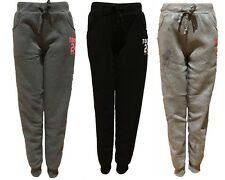 Womens Ladies Track Pants Fleece Lined Basic Cuff Causal Trousers Trackie-Tokyo