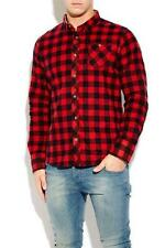 Mens Check Casual Shirt Brave Soul Jack Flannel Brushed Cotton Long Sleeve Top