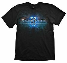 Starcraft II Wings of Liberty Logo Licensed Blizzard Adult Black T-Shirt