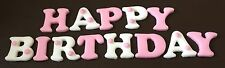 13 x edible icing Happy Birthday letters cupcake toppers & cake decorations