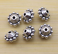 wholesale:25/50/100 pcs Retro style beautiful Tibet silver alloy interval beads