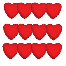 "18"" Solid Color Red Heart Shape Mylar Foil Valentine's Day Balloons Bouquet Lot"