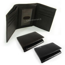 New Mens Trifold Genuine Leather Wallet Case Credit Card Window ID License #96