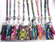 *New With Tags*Vera Bradley Zip ID Case and Lanyard (Multi Color Available)
