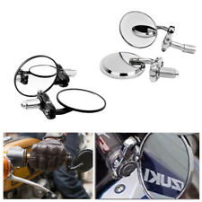 """Motorcycle 3"""" Round 7/8"""" Handle Bar End Rearview Mirrors For Honda Harley Suzuki"""