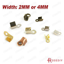 10g Width:2MM or 4MM Iron Ribbon Crimp End Caps & Clasps Findings 15071