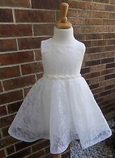 Flower girl dress white Dress toddler girl dress, girl lace dress