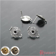 20PCS 15*10.5MM Alloy and Steel Needle Stud Earrings Findings Accessories 18356