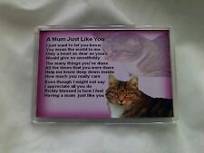 Personalised Fridge Magnet -  Mum  Poem + Free Gift Box  -  Various Designs
