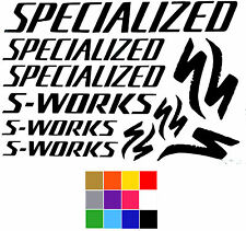 Specialized Stickers S-Works x 13. Specialized Bike Stickers Frame Fork Decal