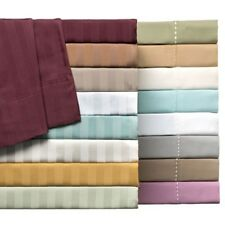 Elegant Comfort 300 TC Egyptian Cotton Striped Euro Double All UK Bedding Set*