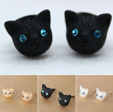 Jewelr Earrings Cat Jewelry Ear Studs  New Women Lovely Hot Crystal Rhinestone