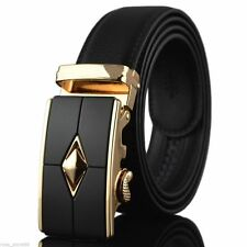 Waistband Automatic Buckle Waist Strap Belt Genuine Leather For Fashion Men's
