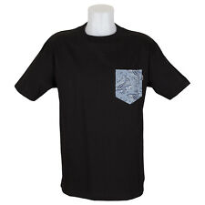SP Quiet Life Clothing Paisley Pocket T-Shirt Black Liberty Fabric skate