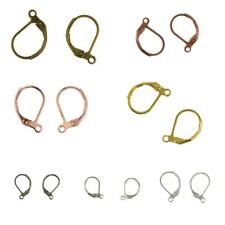 50 x French Leverback Earrings Hooks Open Loop Findings DIY