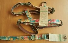 EARTHY INSPIRATIONS HARNESS OR COLLAR FOR DOG FLOWER PRINT ECO FRIENDLY NWT