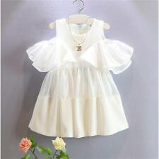 Cute Toddler Kids Baby Girls Off Shoulder Princess Party Dress Tutu Skirt 1-6Y