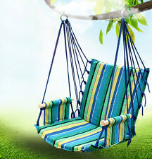 Garden Outdoor Camping Cotton Striped Hanging Hammock Chair Hanging Swing Seat