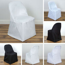 50 pcs POLYESTER ROUND FOLDING CHAIR COVERS Discounted Wedding Party Supplies