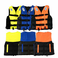 Polyester Adult Life Jacket Universal Swimming Boating Ski Vest+Whistle 6Size YW