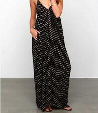 Evening Party Sexy Chiffon Polka Dot Dress Boho Long Maxi Women Beach Summer