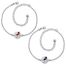 Women Fashion Silver Plated Rhinestone Anklet Foot Chain Adjustable Jewelry Gift
