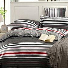 New 100% Cotton Twin Full Queen King Size Bed Quilt Duvet/Cover Pillowcase Set
