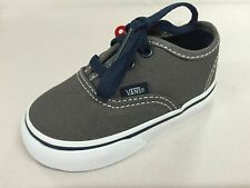 Vans Shoes Tots Authentic PEWTER / DRESS BLUES Children Toddler Boys NEW
