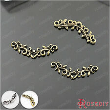 50PCS 24*8MM Zinc Alloy Flower vine Charms Jewelry Findings Accessories 25560