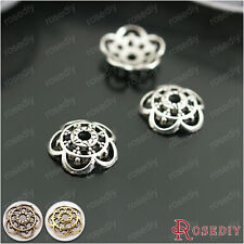 100PCS 10MM Zinc Alloy Flower Beads Caps Jewelry Findings Accessories 26927