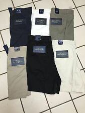 NEW Macy's CLUB ROOM Wrinkle Resistant 100% cotton Twill Shorts Men's 30 - 44 W