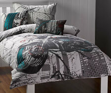 Harley Quilt Cover Set Doona Duvet Boys Motorcycle Bedding Kids Motorbike Bike