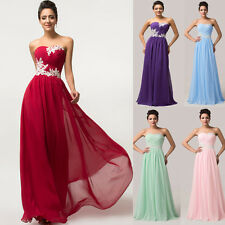 Plus Size Long Bridesmaid Formal Gown Wedding Party Cocktail Evening Prom Dress