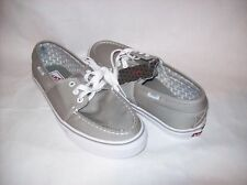 MENS VANS SHOES Gray Hull Canvas Boat Shoes MSRP$55 MULTIPLE SIZES NEW IN BOX