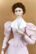 """FOR 24"""" Lady Marion Doll 1895 Holiday Outing Dress Sewing Pattern #34"""