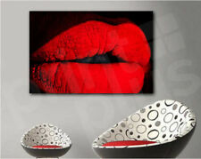 Red Lips Abstract Wall Decor Canvas Art Poster Print