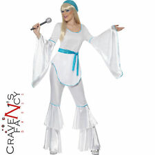 Super Trooper Abba Agnetha 70s Ladies Womens Fancy Dress Costume UK 8 - 18