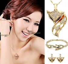 2014 Fashion Jewelry Fox Pendant Bangle Necklace Set Bracelet Long Snake WT88