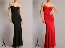 NEW LADIES SEXY CHIC STRAPLESS MAXI COCKTAIL FORMAL DRESS