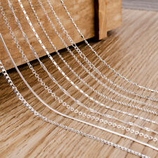 Wholesale Solid Silver Chain Ladies/Mens 925 Silver Necklace Fit Pendant/Charm