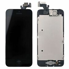 Black LCD Lens Touch Screen +Home Button +Front Camera +Ear Speaker For iPhone 5