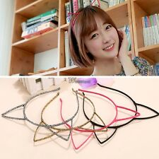 Women Girls Animal Ear Headband Hair Decor Hair Band Party Gift Cat Ears WT88