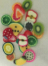 FRUIT  fimo cane slices for nail art,dolls house,card making