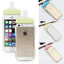Clear Baby Biberon Milk Feeding Bottle Cover Case For iphone 4/4s 5/5s 6Plus