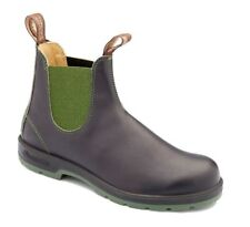 Blundstone Urban 1402 Leather Lined Black and Olive Green Leather Boots