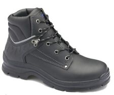 Blundstone 312 Black waxy leather lace up steel toe safety boot with padded c...