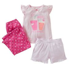 Carter's 18M 24M 2T 3T Girls 3-Piece We're Mini Milkshakes Pajama Set NWT