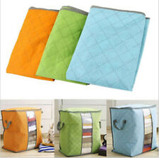 Pouch quilt beding Underbed Portable Bamboo Clothing Large Storage Bag